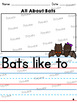 All About Bats: Writing Templates