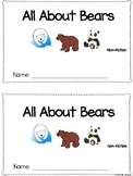 All About Bears Emergent Reader Non-fiction Informational