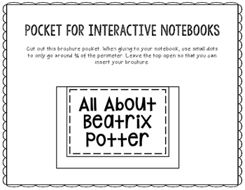 All About Beatrix Potter - Biography Research Project - Interactive Notebook