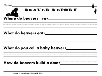 All about beavers writing prompts graphic organizers diagram by all about beavers writing prompts graphic organizers diagram ccuart Images