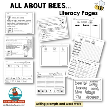 All About Bees - Literacy and Math- Interactive Readers - Diversified Reading