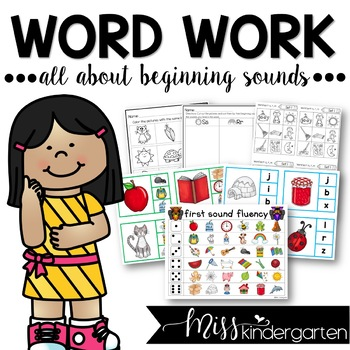 All About Beginning Sounds {center activities and printables}