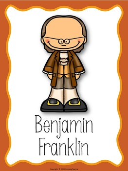 All About Benjamin Franklin Posters and Book to Create