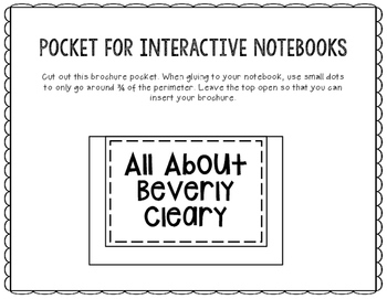 All About Beverly Cleary - Biography Research Project - Interactive Notebook