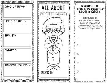 All About Beverly Cleary - Biography Research Project - In