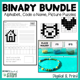 All About Binary: Introducing, Puzzles, & More {Bundle- Pr