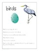 All About Birds: An Interactive Science Unit