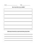 All About Birds Lesson Worksheet