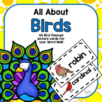 All About Birds Word Wall Picture Cards