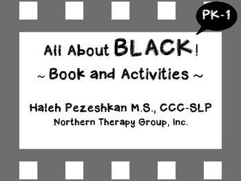 All About Black Interactive Book and Activities