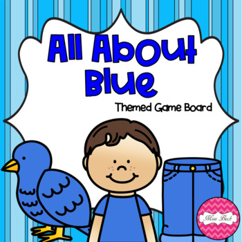 All About Blue Themed Game Board