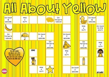 All About Yellow Themed Game Board