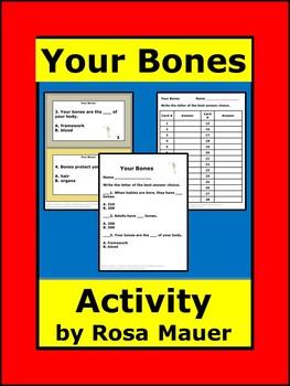 Your Bones Science Task Cards