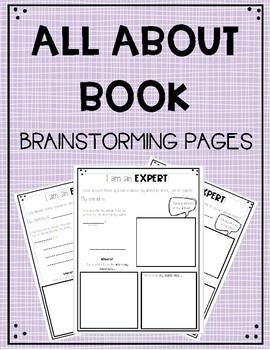 All About Book Topic Facts Graphic Organizer