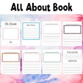 All About Book For Drawing Writing Story