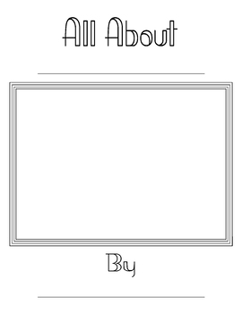All About Book For Drawing and Writing