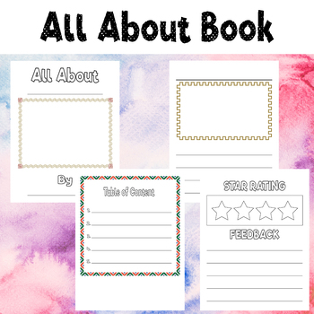 All About Book For Kids Drawing Writing