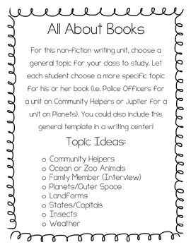 All About Book: Non-fiction Writing For Any Topic!