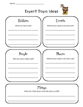 """All About"" Book Planning Pages"