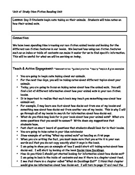 All About Book Research Writing Unit Plan
