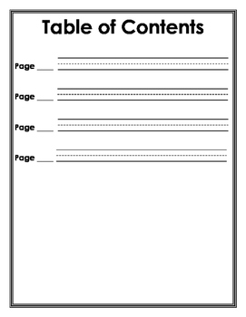 All About Book Template