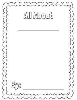 All About Book Template (Animal and Biography)