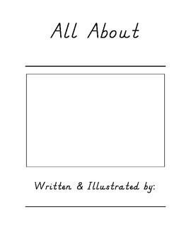 All About Book Template (D'Nealian)