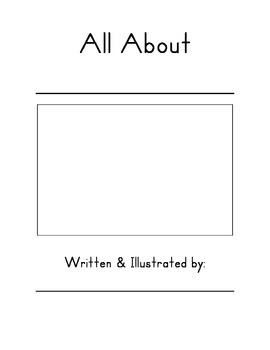 All About Book Template (Zaner Bloser)