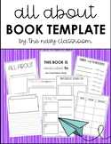 All About Book Template (with 3 template styles!)