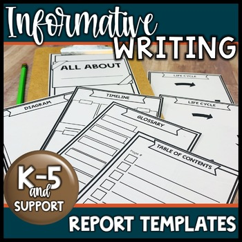 Informational Text Report Templates