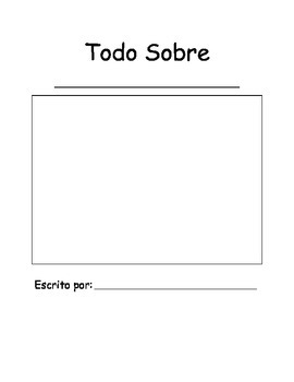 All About Book template in Spanish