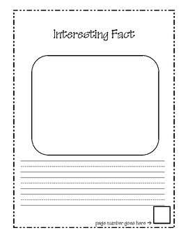 All About Books Expository Text Writing Frames