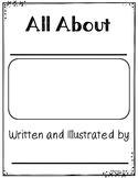 All About Books:  Informational Writing Template