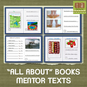 """All About"" Books Mentor Texts - Examples for Students to Learn From"