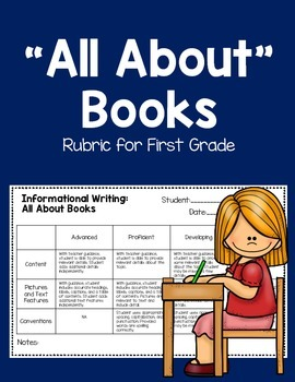 """""""All About"""" Books Rubric for First Grade"""