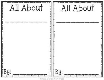 """All About Books"" Template"