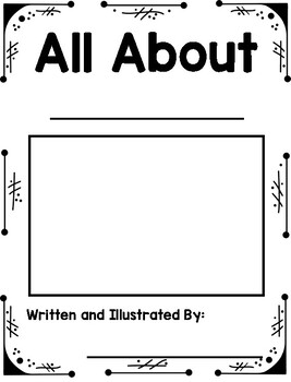 All About Books:  Writing Template