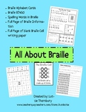All About Braille Printables: Bingo, Spelling Practice, Br