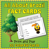 All About Brazil Task Cards