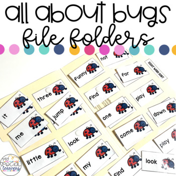 All About Bugs File Folder Activities for Special Education