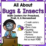All About Bugs & Insects Math Centers for Preschool, PreK, K & Homeschool