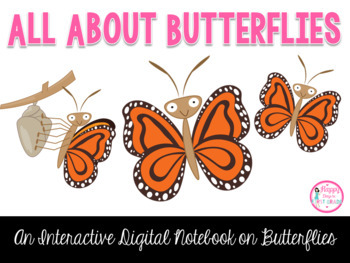 All About Butterflies Interactive Digital Notebook {Paperl