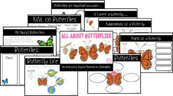 All About Butterflies Interactive Digital Notebook {PRINT & DIGITAL}