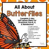 All About Butterflies Lesson Plan for Preschool, PreK, K,