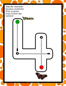 All About Butterflies Math centers for Preschool, PreK, K, & Homeschool