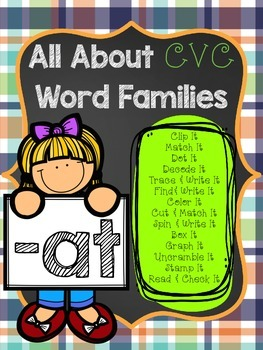 All About CVC Word Families -AT