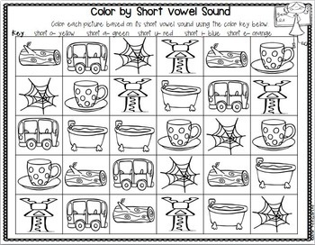 All About CVC Words: Practicing Short Vowel Sounds w/ Write the Room & MORE
