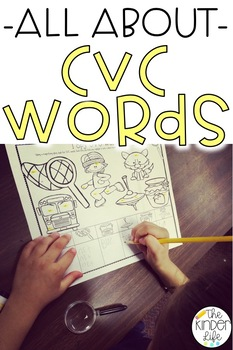 All About CVC Words: Practicing Short Vowel Sounds w/ Writ