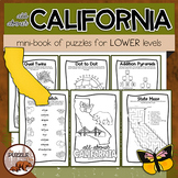 All About California Puzzle Mini Book for Lower Elementary