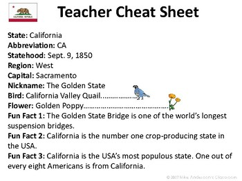 All About California | US States | Activities & Worksheets